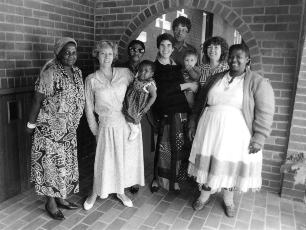 The first volunteer committee members of Thandanani. From left to right: Sarah Masimini, Penny Haswell, Busi Tshabalala, Margie Pretorius, Philippe Denis, Karen Sievers and Barbara Khoza.